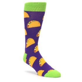 Novelty Men's Purple Taco Socks by Socksmith