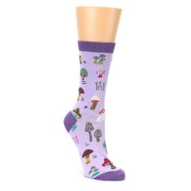 purple and multicolor women's dress socks by sock it to me