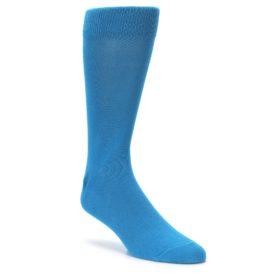 Solid Blue men's dress socks from BoldSOCKS