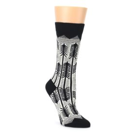 Black and white women's novelty forest tree socks by ballonet