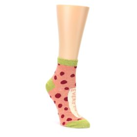 pepperoni pizza fixes everything owmen's ankle socks by Blue Q