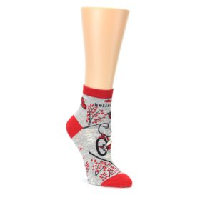 hellraiser grey red women' ankle socks by Blue Q
