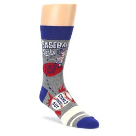 Mens step up to the plate baseball socks by Blue Q