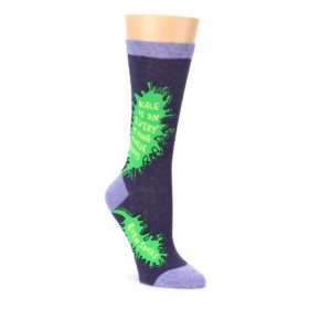 purple green women's dress socks by Blue Q