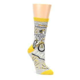 grey yellow hellraiser women's novelty socks by Blue Q
