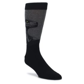 black grey dinosaur novelty dress socks by socksmith