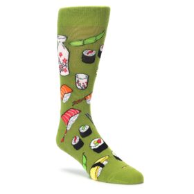 Mens novelty sushimi dress socks by socksmith
