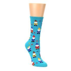 blue multicolor womens novelty garden dress socks by socksmith