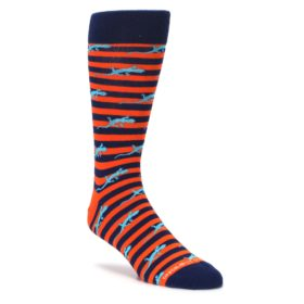 navy orange turquoise lizards dress socks by unsimply stitched
