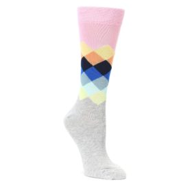 faded diamond womens dress socks by happy socks