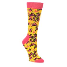 pink yellow womens novelty dress socks by happy socks