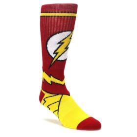 red yellow white flash DC comic dress socks