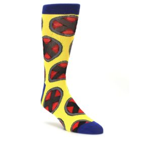 yelow red blue Xmen AOP dress socks by BIOWORLD