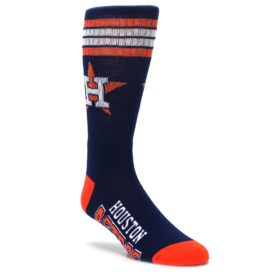 navy orange houston astros athletic crew socks by FBF