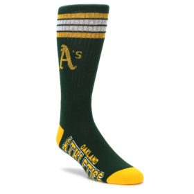 mens athletic crew socks Oakland Athletics FBF