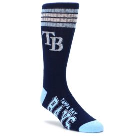 Navy light blue tampa bay rays mens athletic crew socks FBF