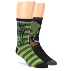 24051-Green-Black-Yoda-Star-Wars-Mens-Two-Pair-Dress-Socks-Hyp01