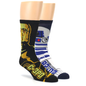 black blue gold star wars novelty mens dress socks hyp