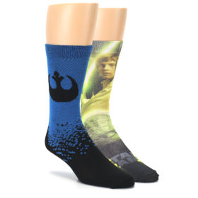24055-Luke-Skywalker-and-Yoda-Star-Wars-Mens-Two-Pair-Casual-Socks-Hyp01