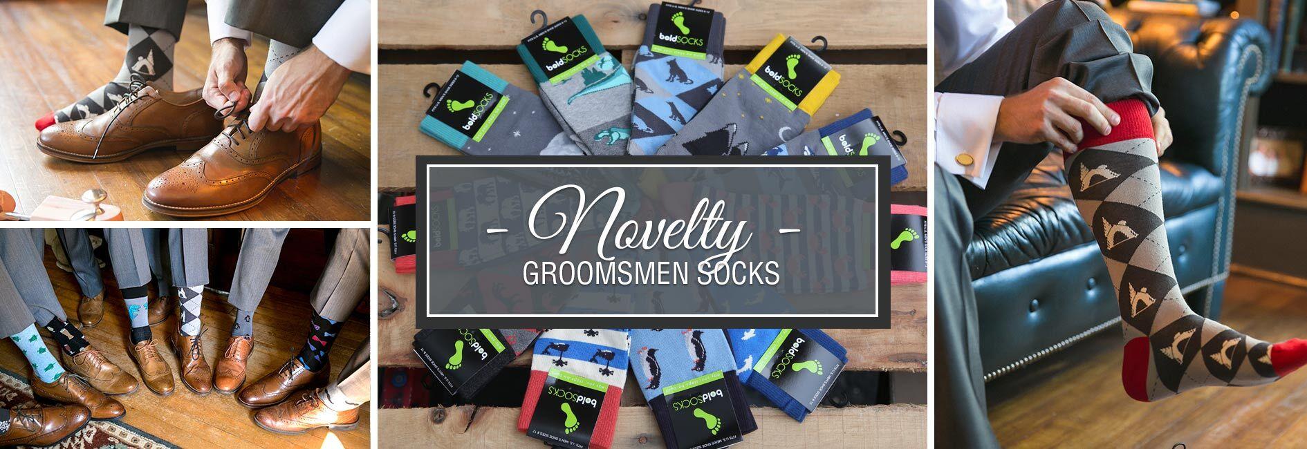 Novelty Groomsmen Wedding Socks Banner