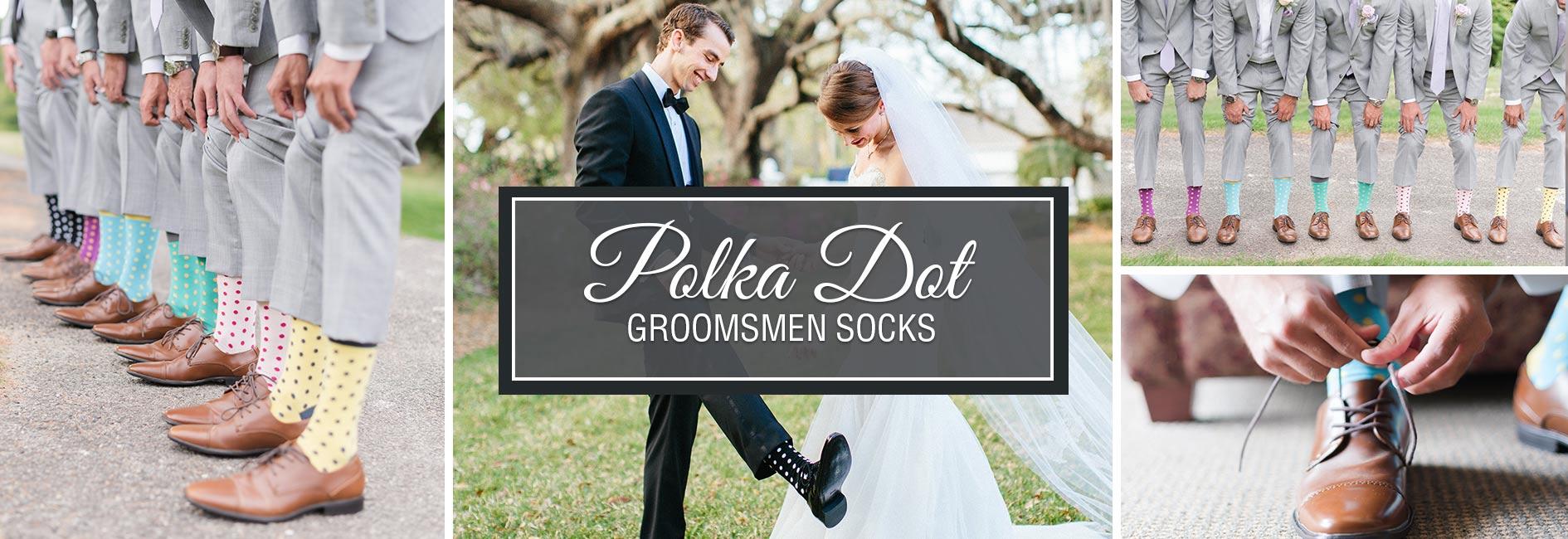 Green Groomsmen Wedding Socks Banner