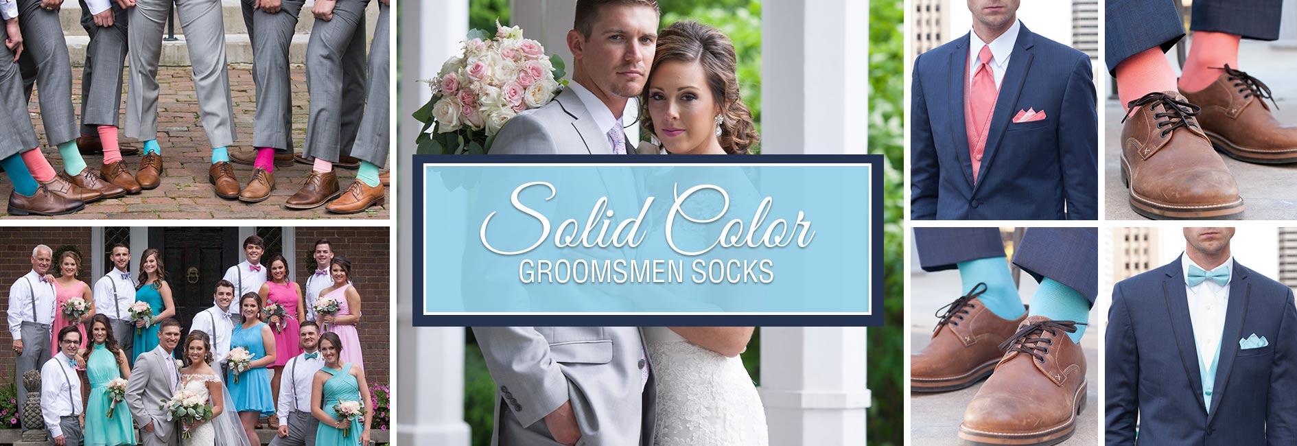 Solid Color Groomsmen Wedding Socks Banner