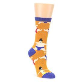 Orange Sumo Wrestlers Womens Dress Socks Oooh Yeah Socks