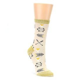 Light Apricot Arrow Pattern Womens Dress Socks Sock It Up