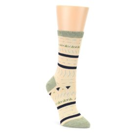 Canary Arrows and Stripes Women's Dress Socks