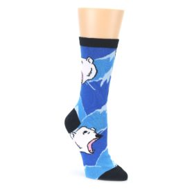 Blue Black Polar Bear Womens Dress Socks Oooh Yeah Socks