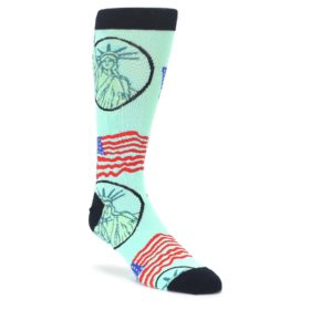 Mint Black Lady Liberty Mens Dress Socks Oooh Yeah Socks