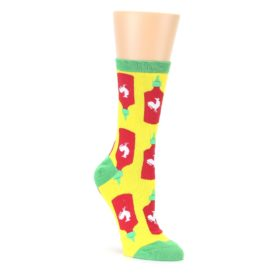 Yellow Red Hot Sauce Womens Dress Socks Oooh Yeah Socks