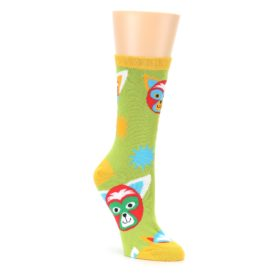 Lime Lucha Mask Chihuahuas Womens Dress Socks Oooh Yeah Socks