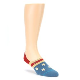 Red Blue American Flag Men's Liner Socks