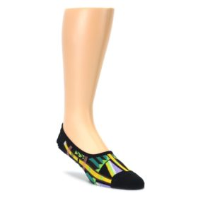 Black Gold Tribal Patterned Mens No-Show Sock