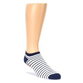 White Red Anchors Mens No Show Sock Ozone Socks