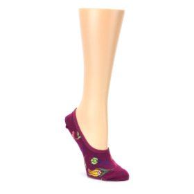 Fuchsia Pink Flowers Womens No Show Liner Socks Ozone Socks