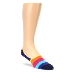 Blue Black Multi Stripe Mens Liner Socks Happy Socks