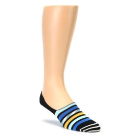 Black Blue Stripes Mens Liner Socks Happy Socks