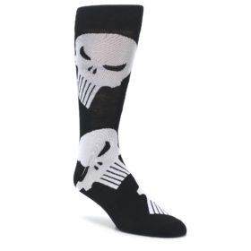 Black Gray Punisher Logo Men's Casual Socks