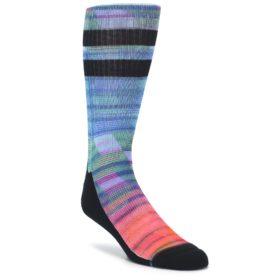Blue Green Neon Stripe Men's Casual Socks