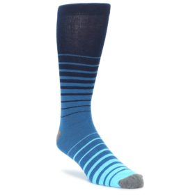 Ocean Blue Navy Stripe XL Mens Dress Socks Argoz