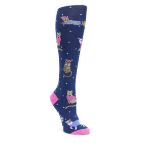 Navy Business Cat-sual Women's Knee High Sock