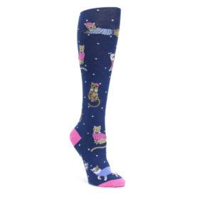 Navy Business Cat-sual Women's Knee High Sock