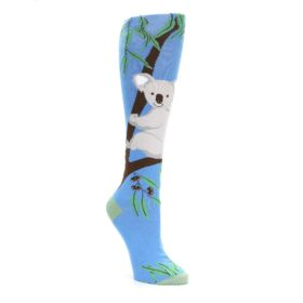 Blue Koala on a Tree Womens Knee High Socks K Bell Socks