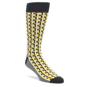 Yellow-Optical-Y-Mens-Dress-Socks-Statement-Sockwear