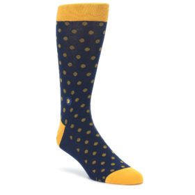 Blue Yellow Dots Donates Books Mens Dress Socks Conscious Step