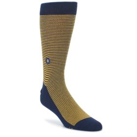 Blue Yellow Donates Books Mens Dress Socks Conscious Step