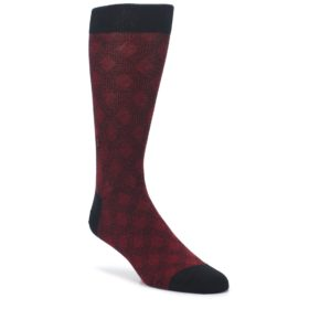 Black Red Crosshatch Fights HIV Mens Dress Socks Conscious Step