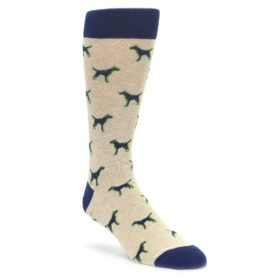 Khaki Navy Dogs Mens Dress Socks Unsimply Stitched